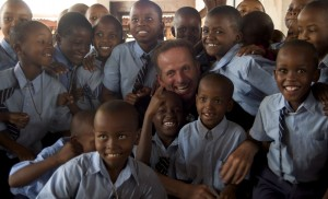 David Wood with Children in Africa