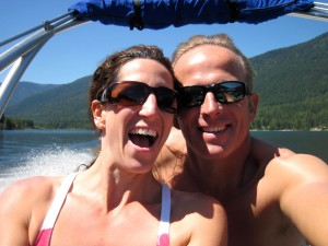 Dave and Jen - speed boat fun