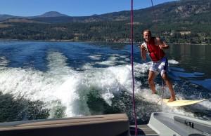 David T.S. Wood Water Skiing
