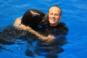 David with Tania the Seal